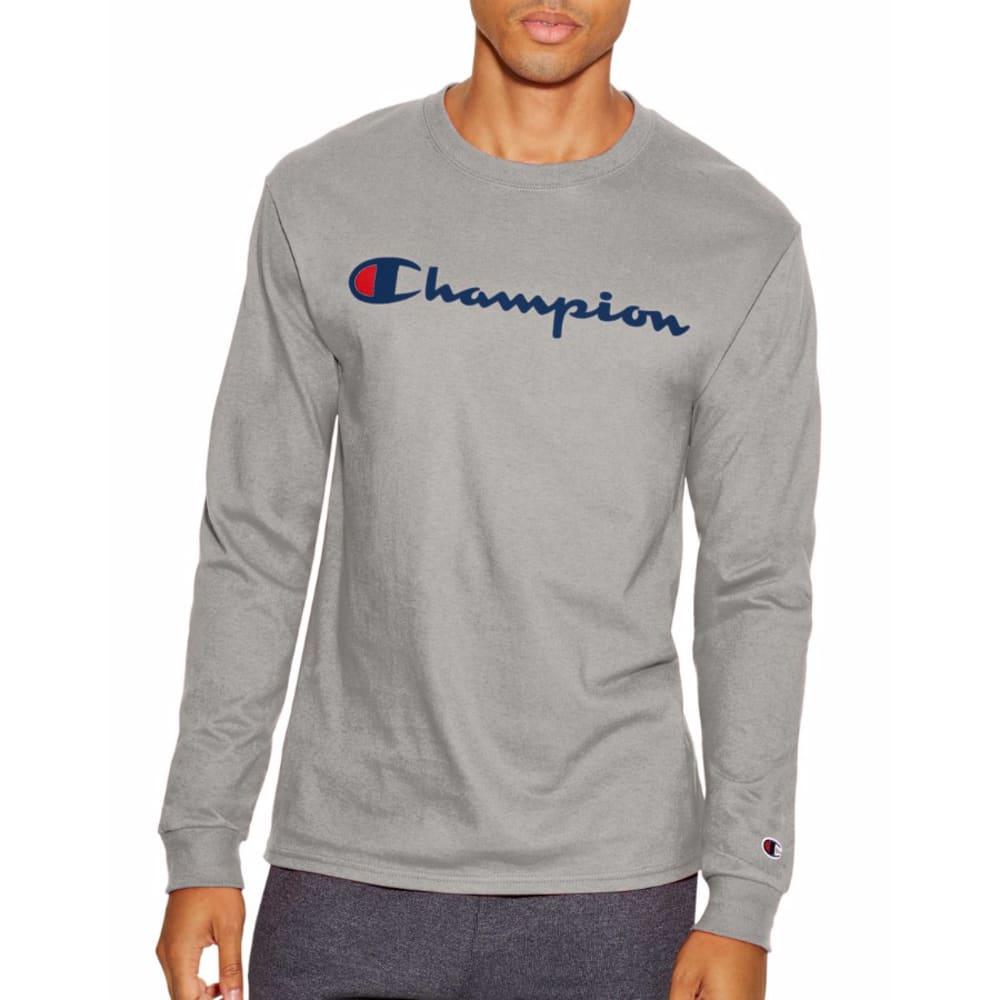 CHAMPION Men's Life® Script Logo Long-Sleeve Tee - OXFORD-11C