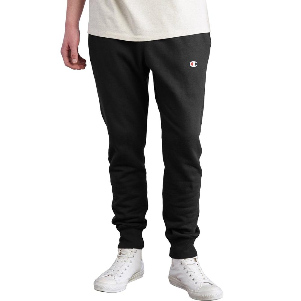 CHAMPION Men's Reverse Weave Trim Jogger Pants - BLACK-BKC