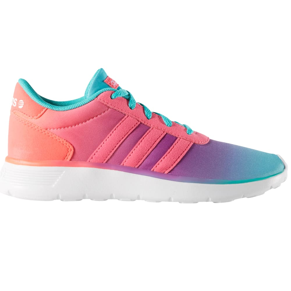 Adidas Girls Neo Lite Racer K Running Shoes, Vivmin/flash Pink/soft Pink - Red, 4