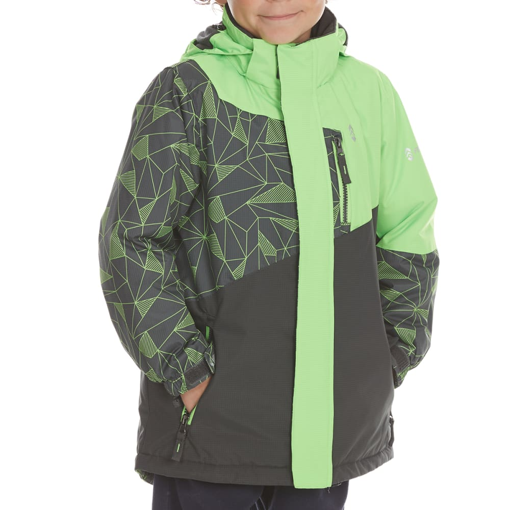 FREE COUNTRY Boys' Tron-Printed Boarder Jacket - GREEN GECKO