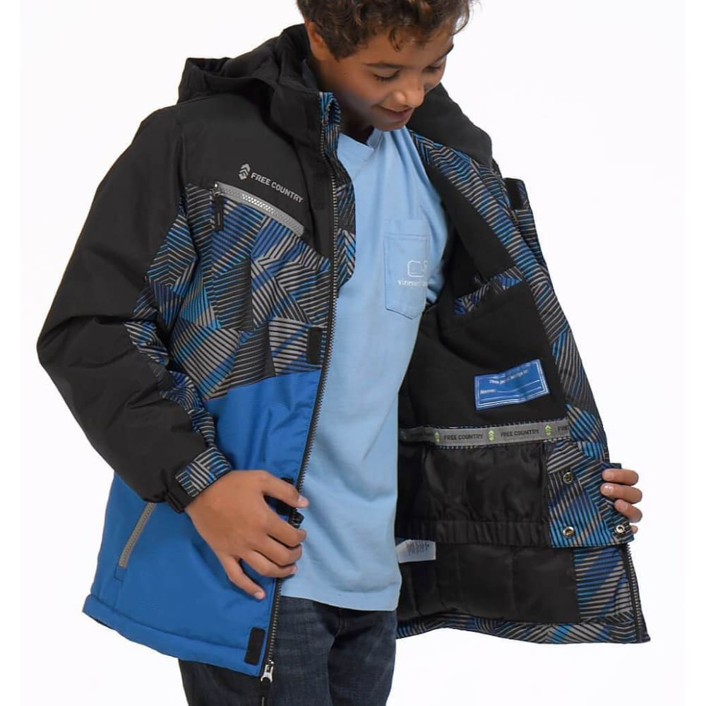 FREE COUNTRY Boys' Viper Boarder Jacket - ELECTRIC BLUE