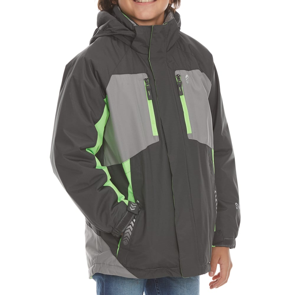 FREE COUNTRY Boys' Skyrush Boarder Jacket - LEAD PENCIL
