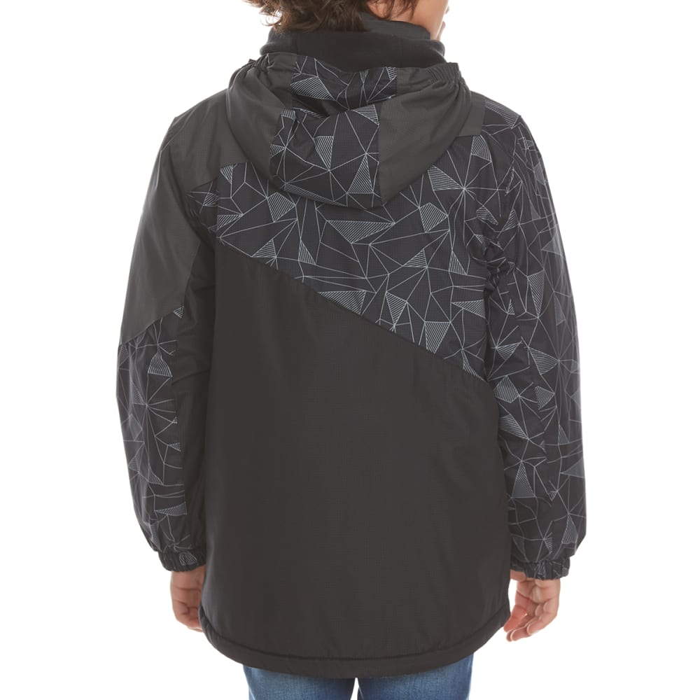 FREE COUNTRY Boys' Tron-Printed Boarder Jacket - BLACK