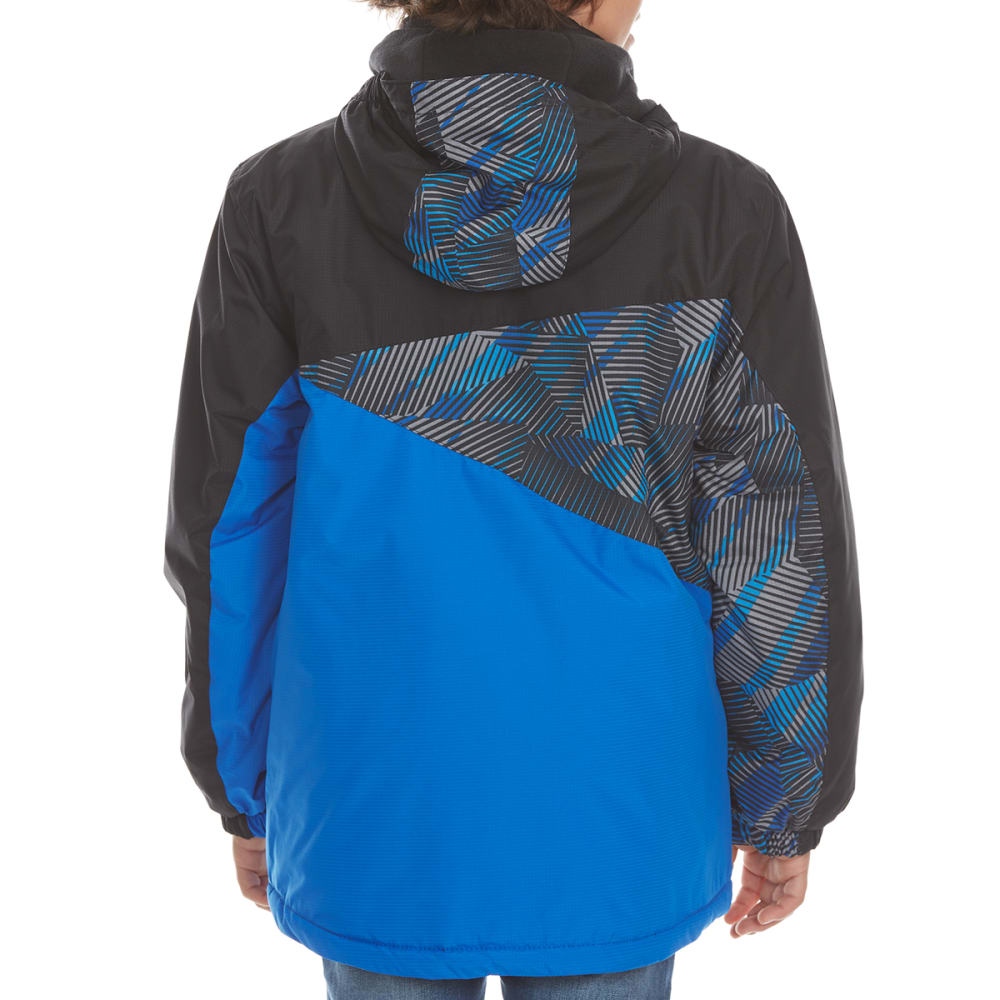 FREE COUNTRY Boys' Printed Color-Block Boarder Jacket - ELECTRIC BLUE