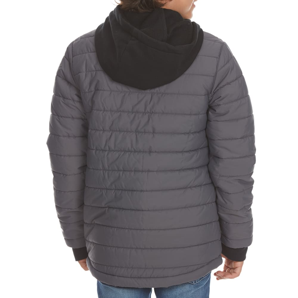 FREE COUNTRY Boys' Traverse Quilted Shirt Jacket - CHARCOAL