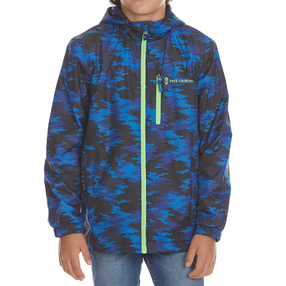FREE COUNTRY Boys' Racer Windshear Jacket - ELECTRIC BLUE