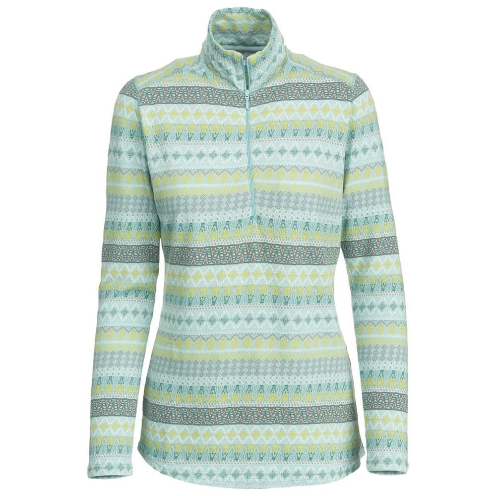 WOOLRICH Women's Mile Run Half-Zip Pullover - WINTER BLUE