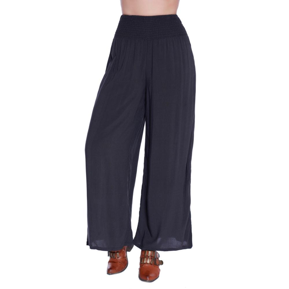 TAYLOR & SAGE Juniors' Smocked Waist Wide Leg Pants - TAR-TAR