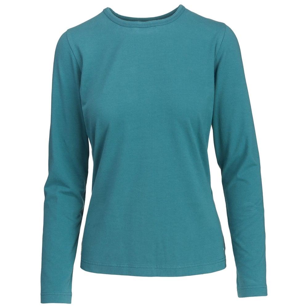 WOOLRICH Women's Laureldale Long Sleeve T-Shirt - OCEAN BLUE