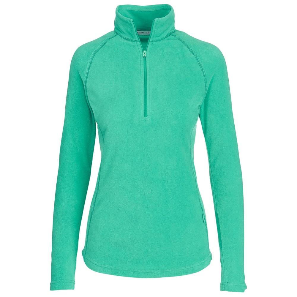 WOOLRICH Women's Colwin Fleece Half-Zip Pullover - WINTERGREEN