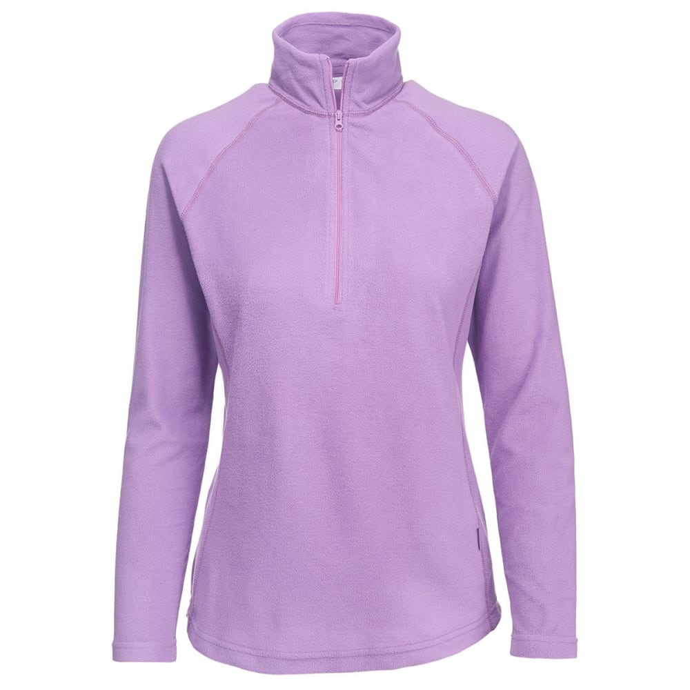 WOOLRICH Women's Colwin Fleece Half-Zip Pullover - BELLFLOWER