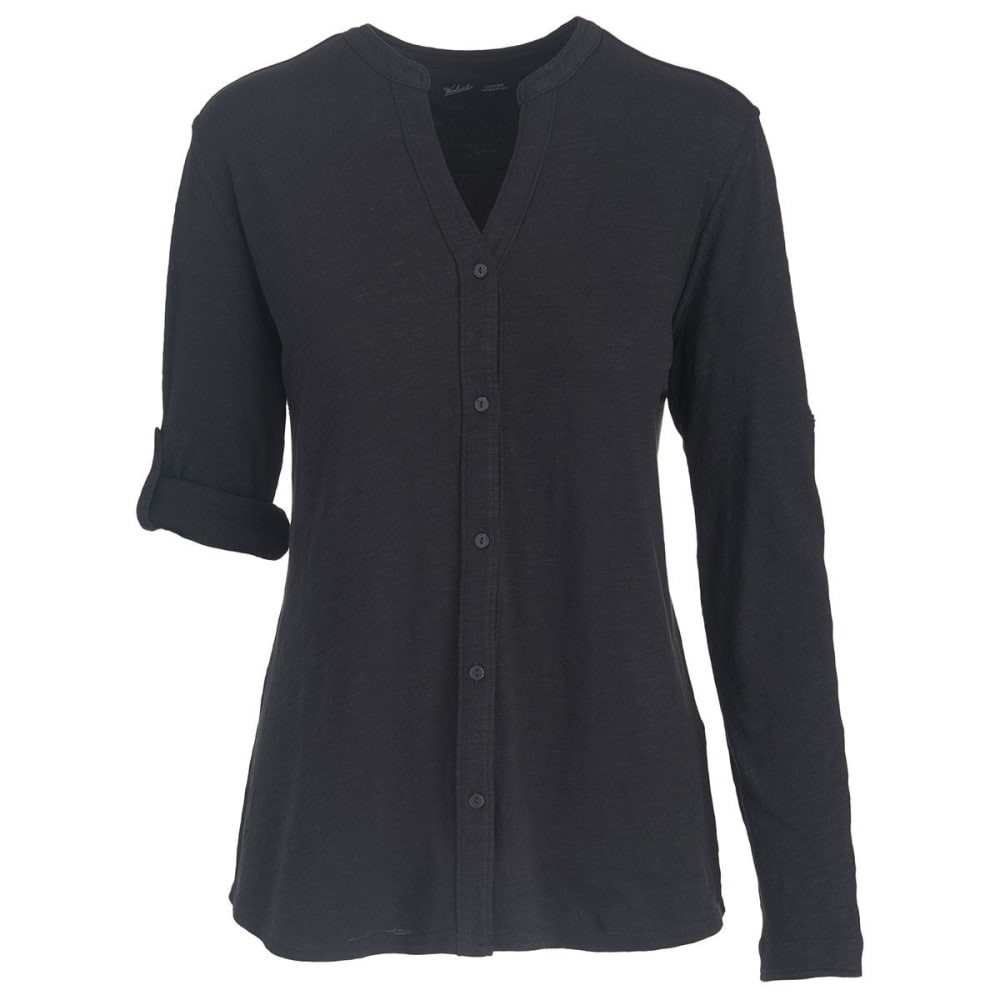 WOOLRICH Women's Silverwood Eco Rich Convertible Shirt - BLACK