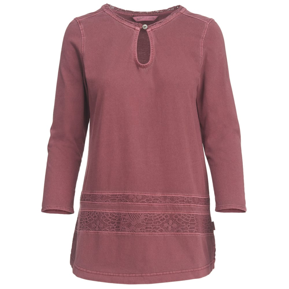 WOOLRICH Women's First Forks Pullover Tunic - CORDOVAN