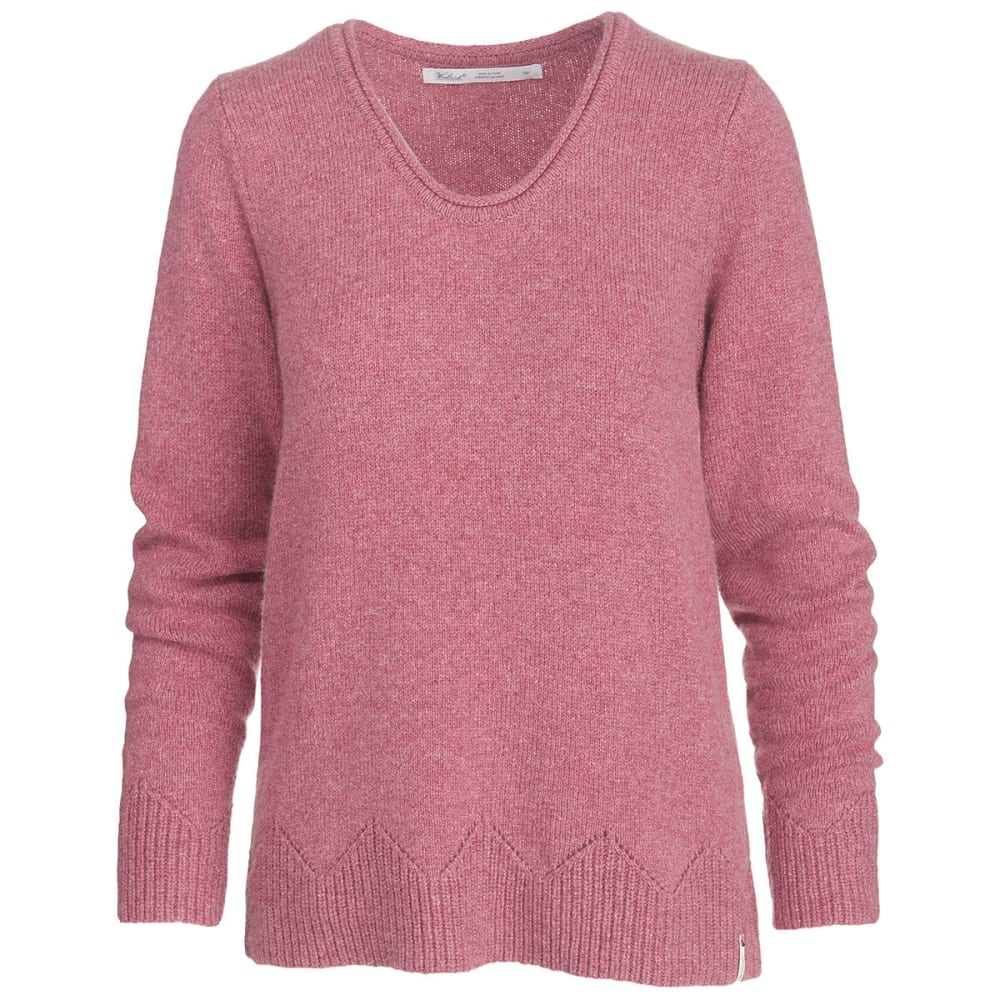 WOOLRICH Women's Maple Way Crew Sweater - MESA ROSE HEATHER
