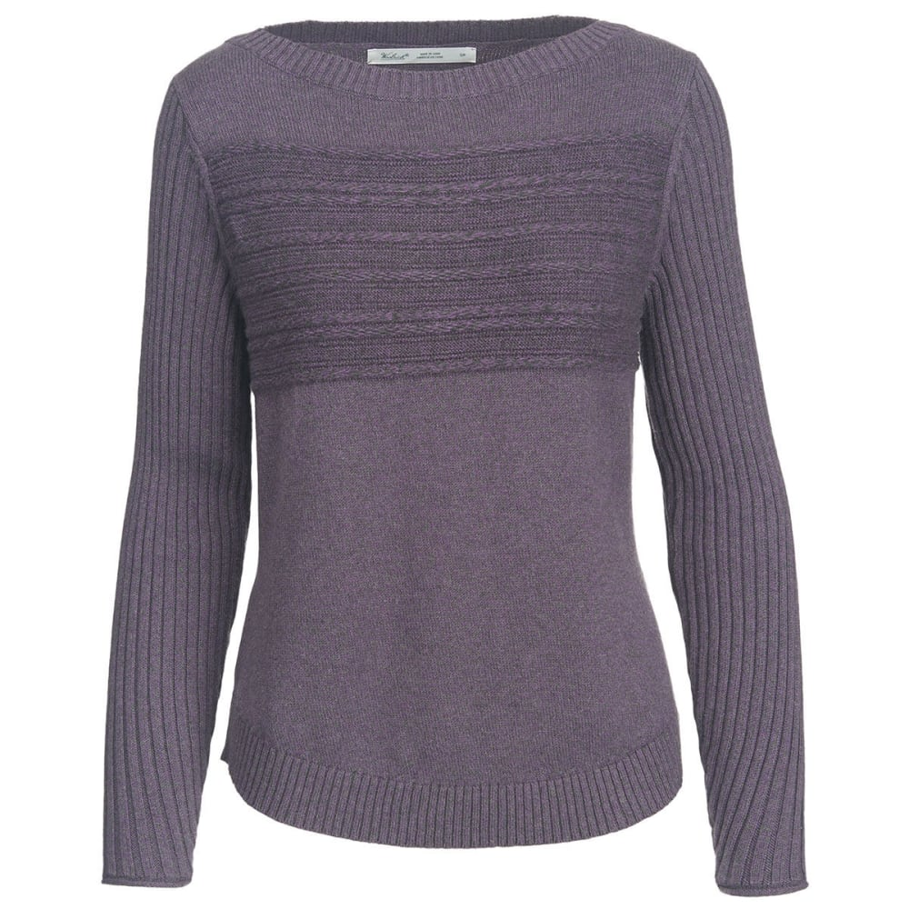 WOOLRICH Women's Apres Ski Eco Rich Sweater - PURPLE PLUM-MARL