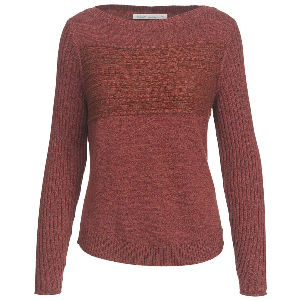 WOOLRICH Women's Apres Ski Eco Rich Sweater - TERRACOTTA MARL