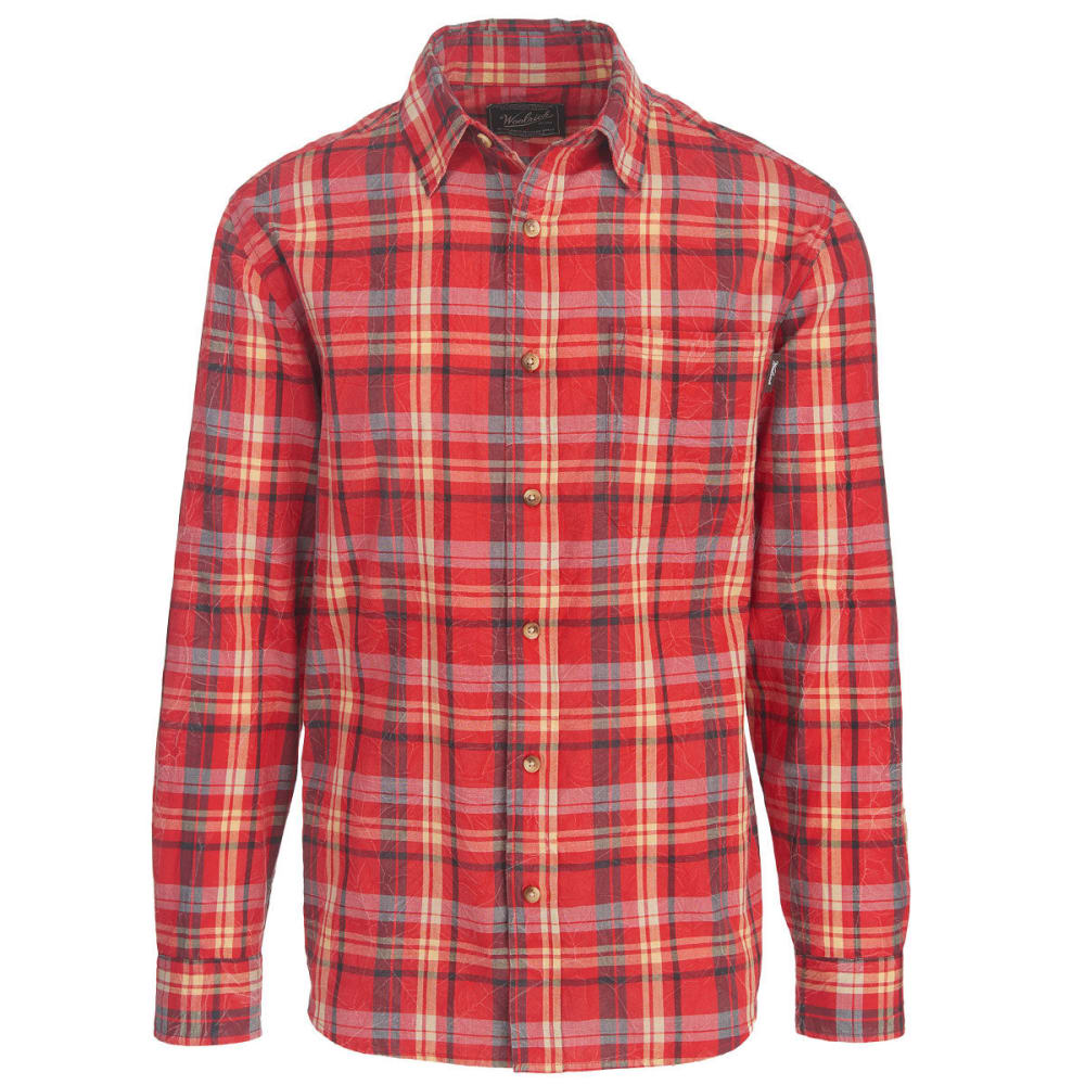 WOOLRICH Men's Red Creek Long Sleeve Shirt II - OLD RED