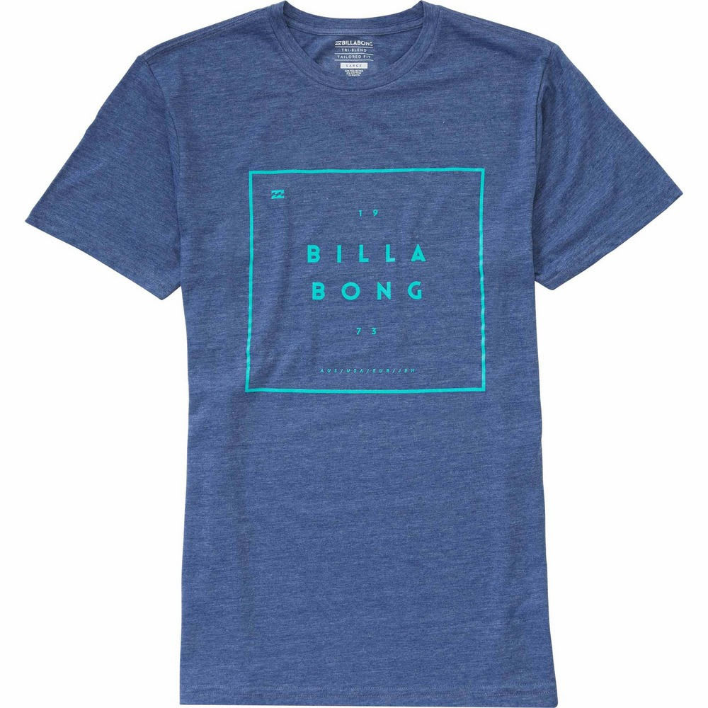 BILLABONG Men's Structure T-Shirt - BLUE-BLU