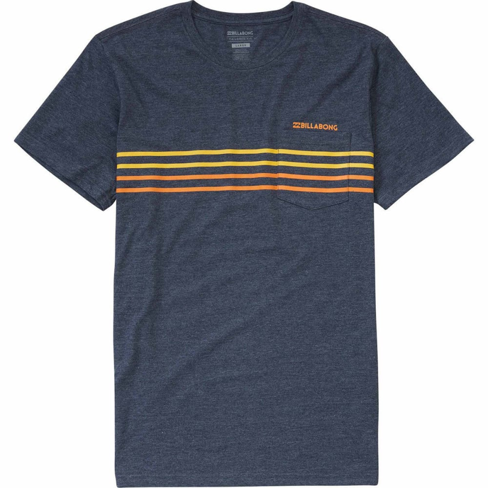 BILLABONG Men's Premium Spinner T-Shirt - INDIGO HTR-INH