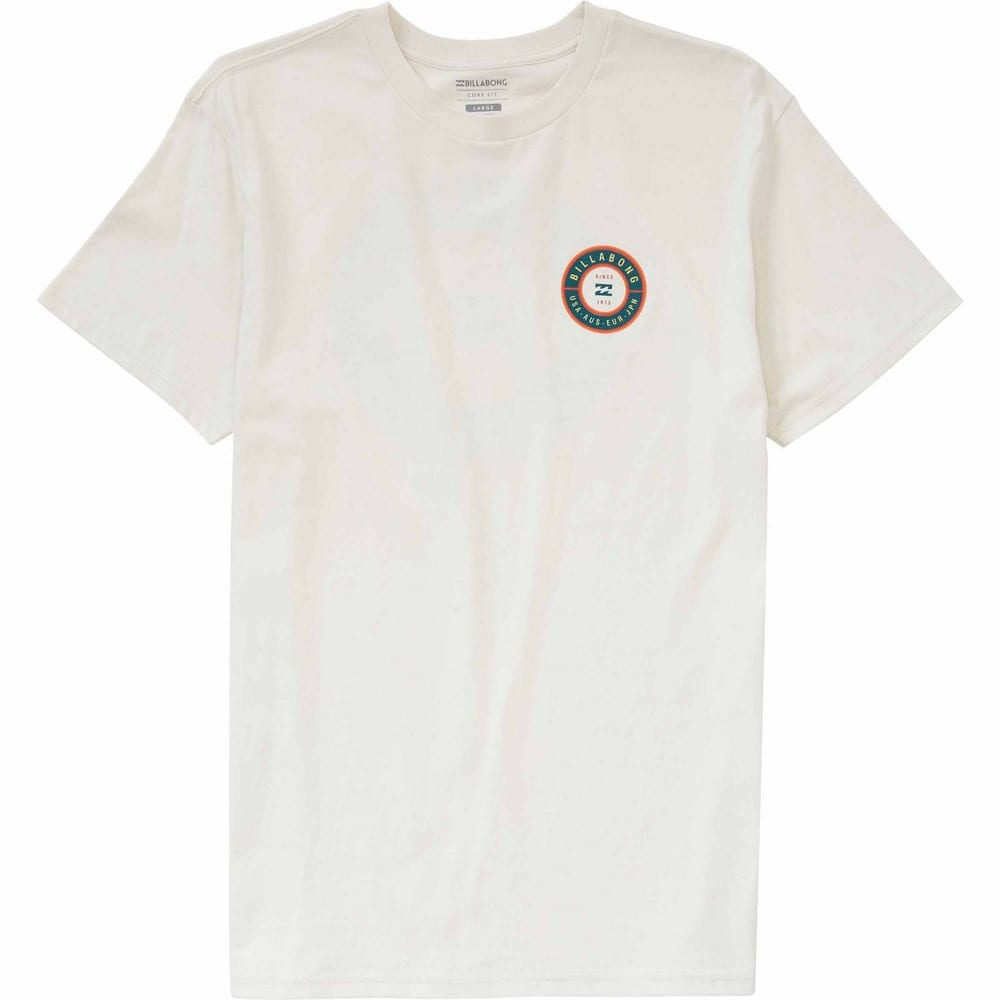 Billabong Men's Rotor Premium Screen T-Shirt - White, S