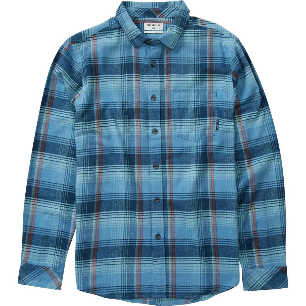 Billabong Men's Coastline Flannel Shirt - Blue, M