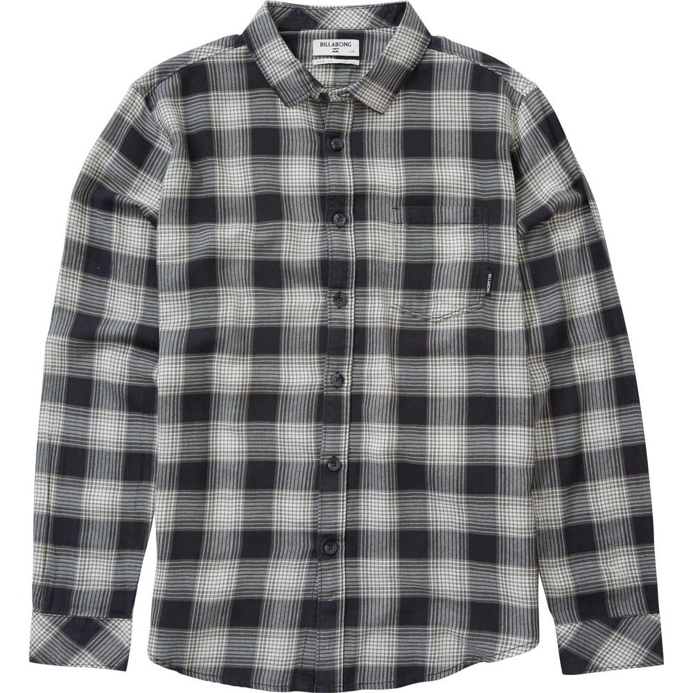 Billabong Men's Freemont Flannel Shirt - Black, M