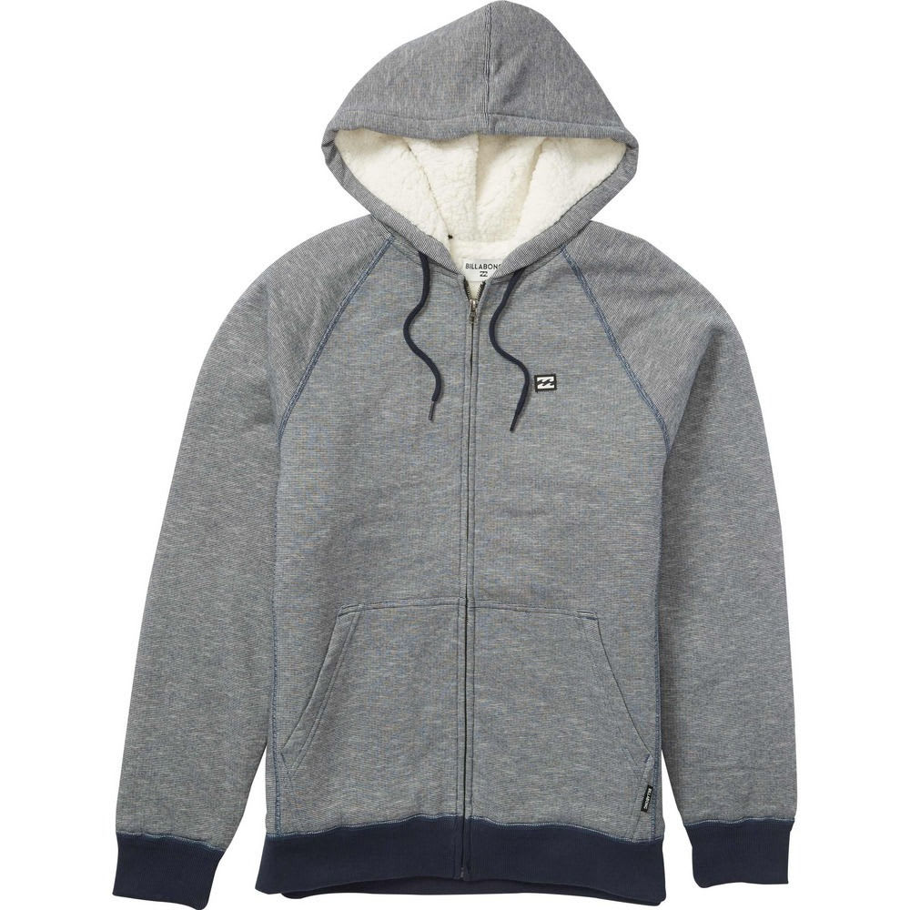 BILLABONG Men's Balance Sherpa Full Zip Hoodie - NAVY HTR-NVH