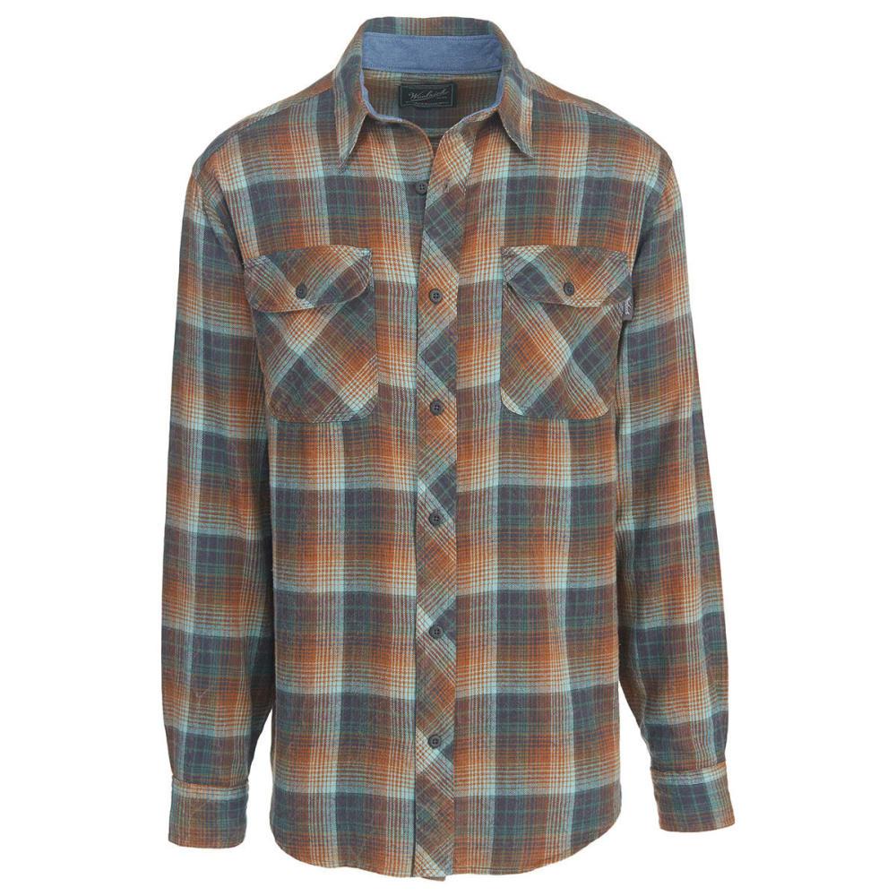 WOOLRICH Men's Miners Wash Flannel Shirt - MALLARD GREEN