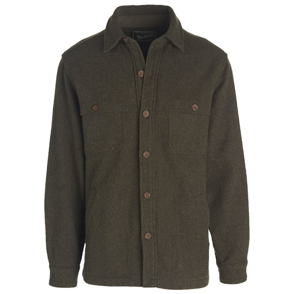 WOOLRICH Men's Wool Stag Shirt Jac - OLIVE
