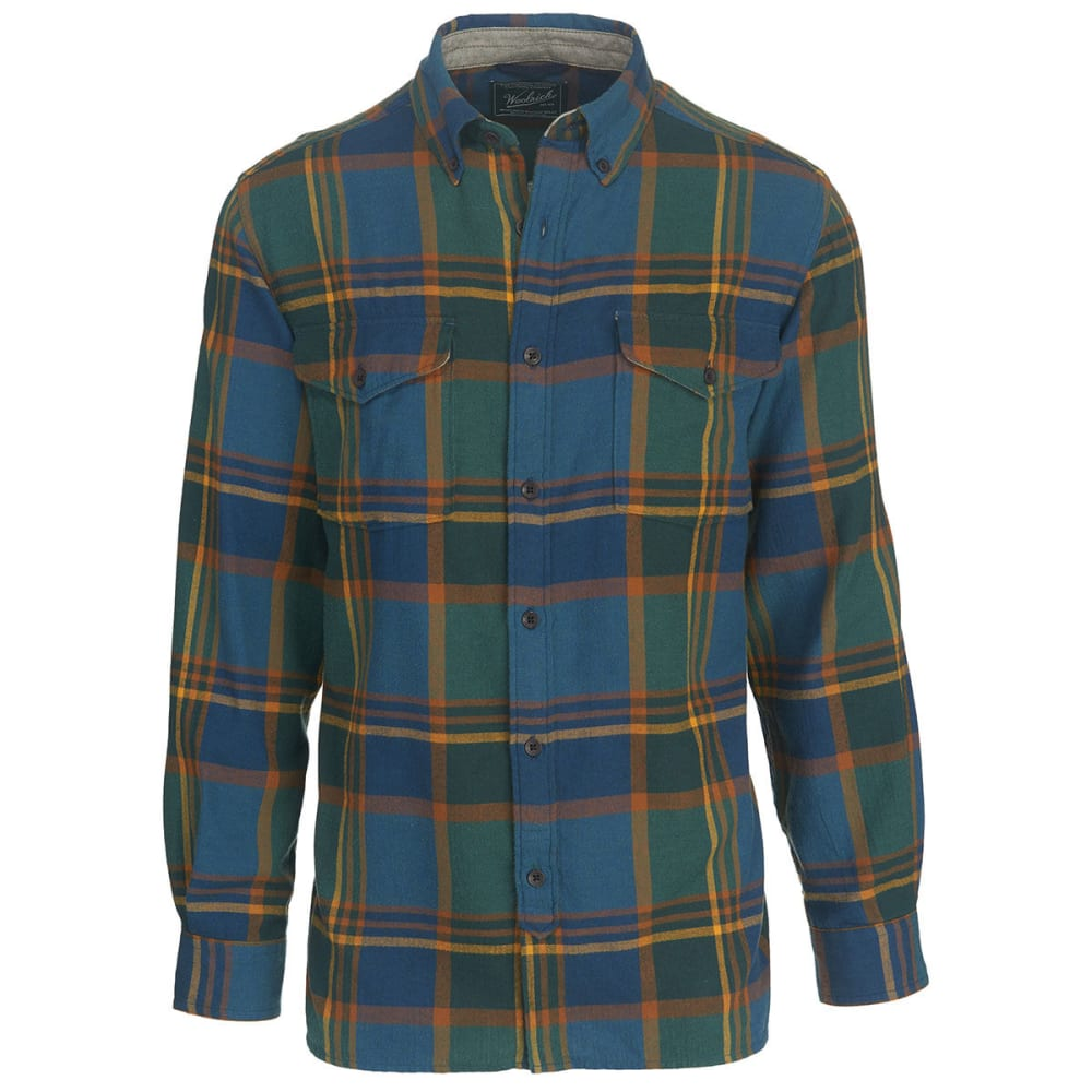 WOOLRICH Men's Stone Rapids Yarn-Dye Shirt - MALLARD GREEN