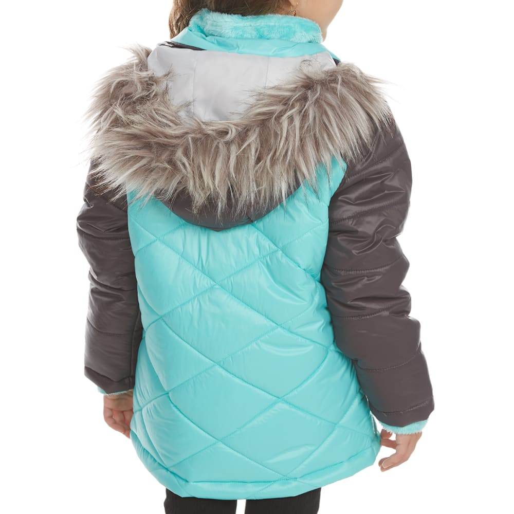 FREE COUNTRY Little Girls' Mountain Sprout Cire Bib Jacket - SPEARMINT