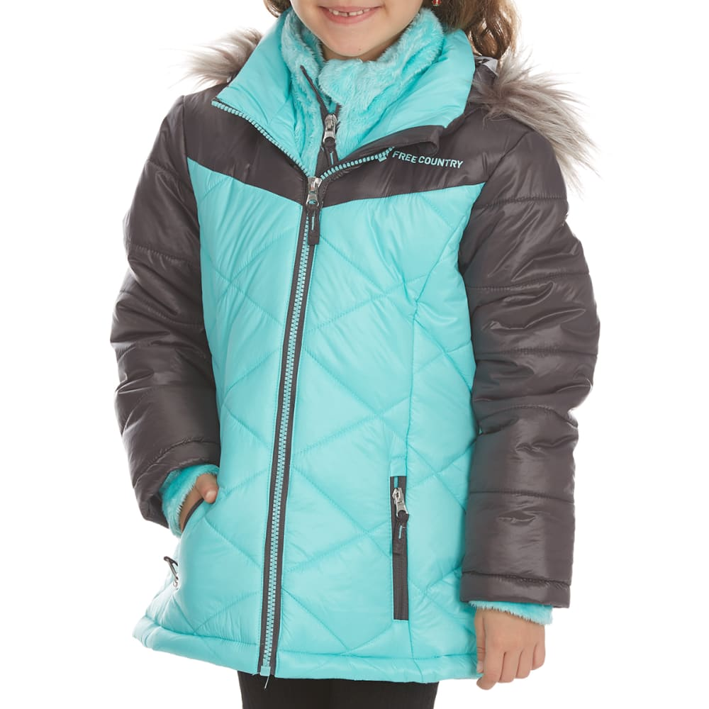 FREE COUNTRY Girls' Mountain Sprout Cire Bib Jacket - SPEARMINT