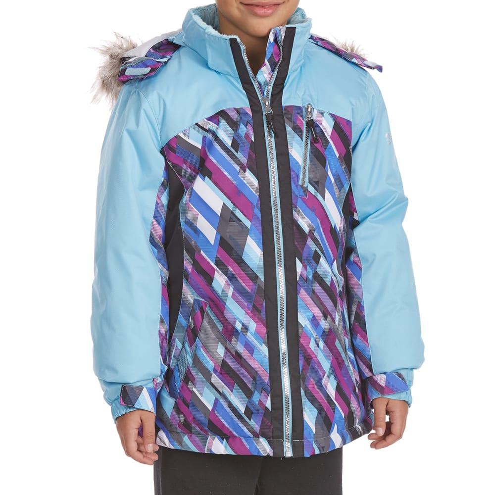 FREE COUNTRY Big Girls' Tracer Snowboard Jacket - AQUA FANTASY
