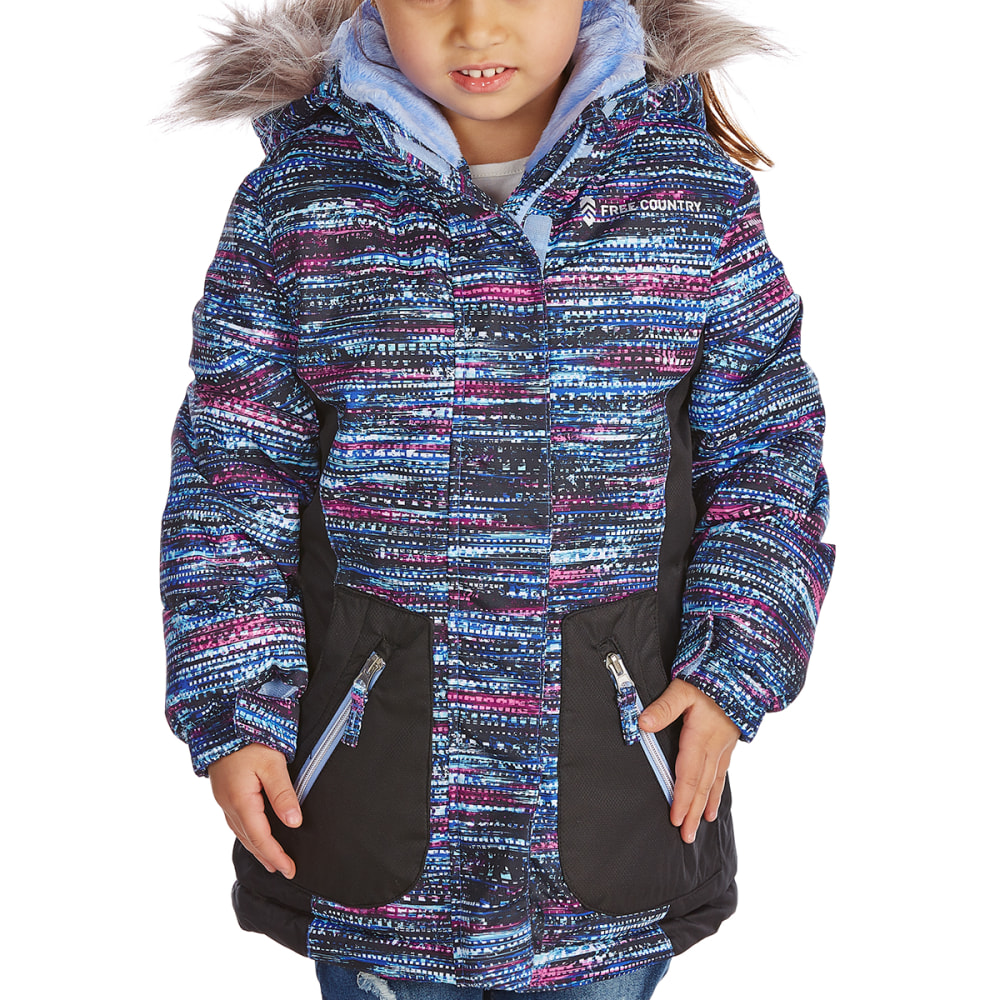 FREE COUNTRY Big Girls' Snowstar Boarder Jacket - BLUE UNICORN