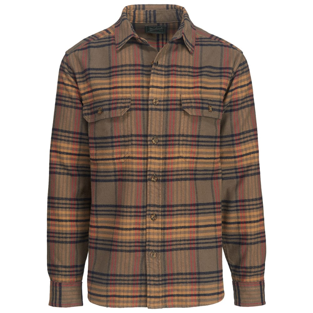 WOOLRICH Men's Oxbow Bend Plaid Flannel Shirt, Modern Fit - BUNGEE CORD