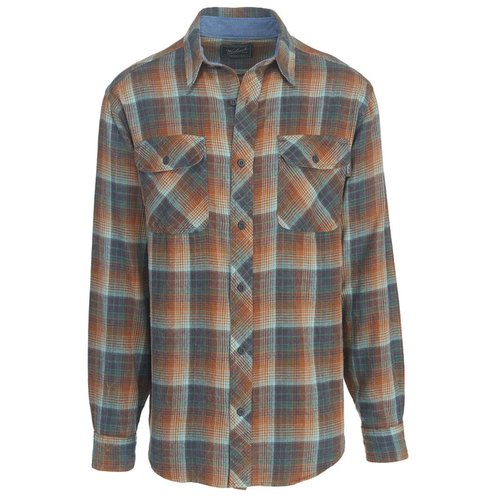 WOOLRICH Men's Miners Wash Modern Fit Flannel Shirt - MALLARD GREEN