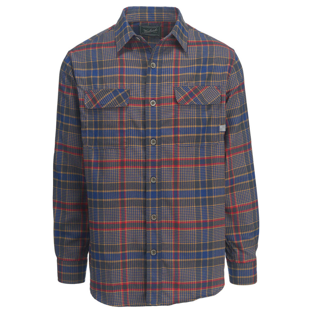 WOOLRICH Men's Hiker's Trail Modern Fit Flannel Shirt II - NEW ROYAL BLUE