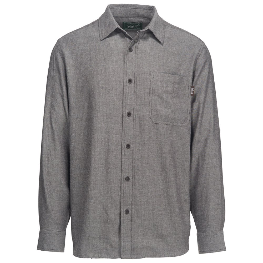 WOOLRICH Men's Stone Rapids Eco Rich Solid Shirt - DARK WALNUT HERRINGB