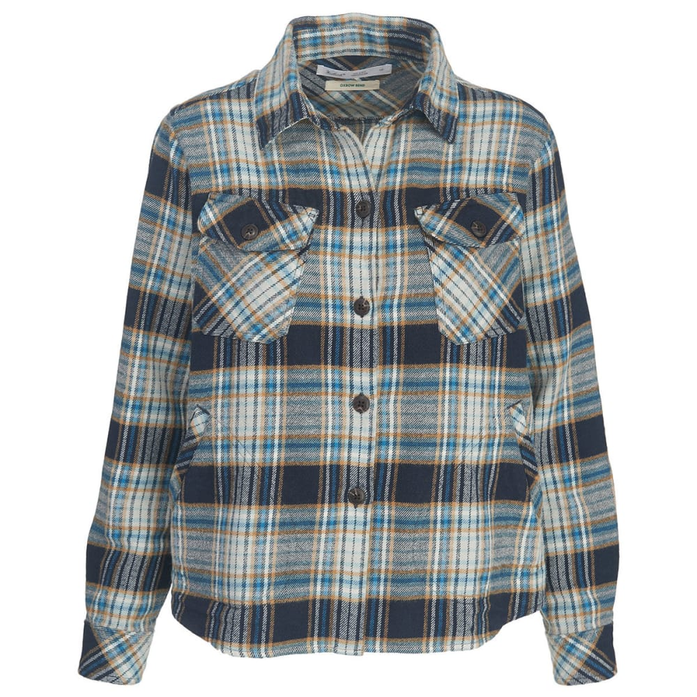 WOOLRICH Women's Oxbow Bend Flannel Shirt Jac - SHADOW