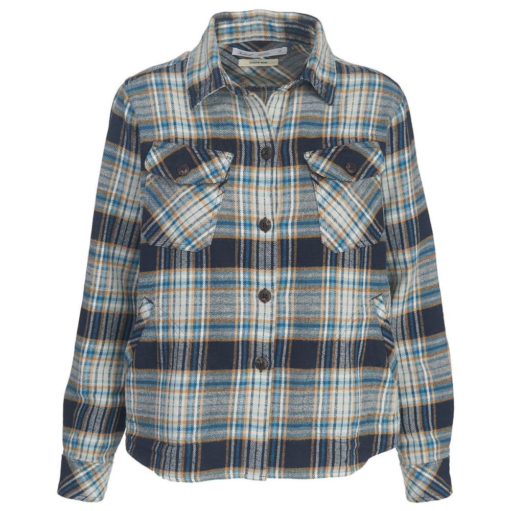 WOOLRICH Women's Oxbow Bend Flannel Shirt Jac - SHADOW