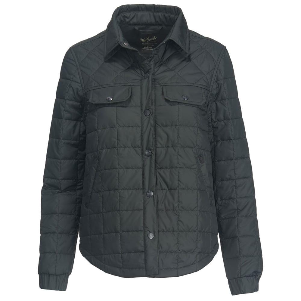 WOOLRICH Women's Heritage Eco Rich Packable Shirt Jac - ASPHALT
