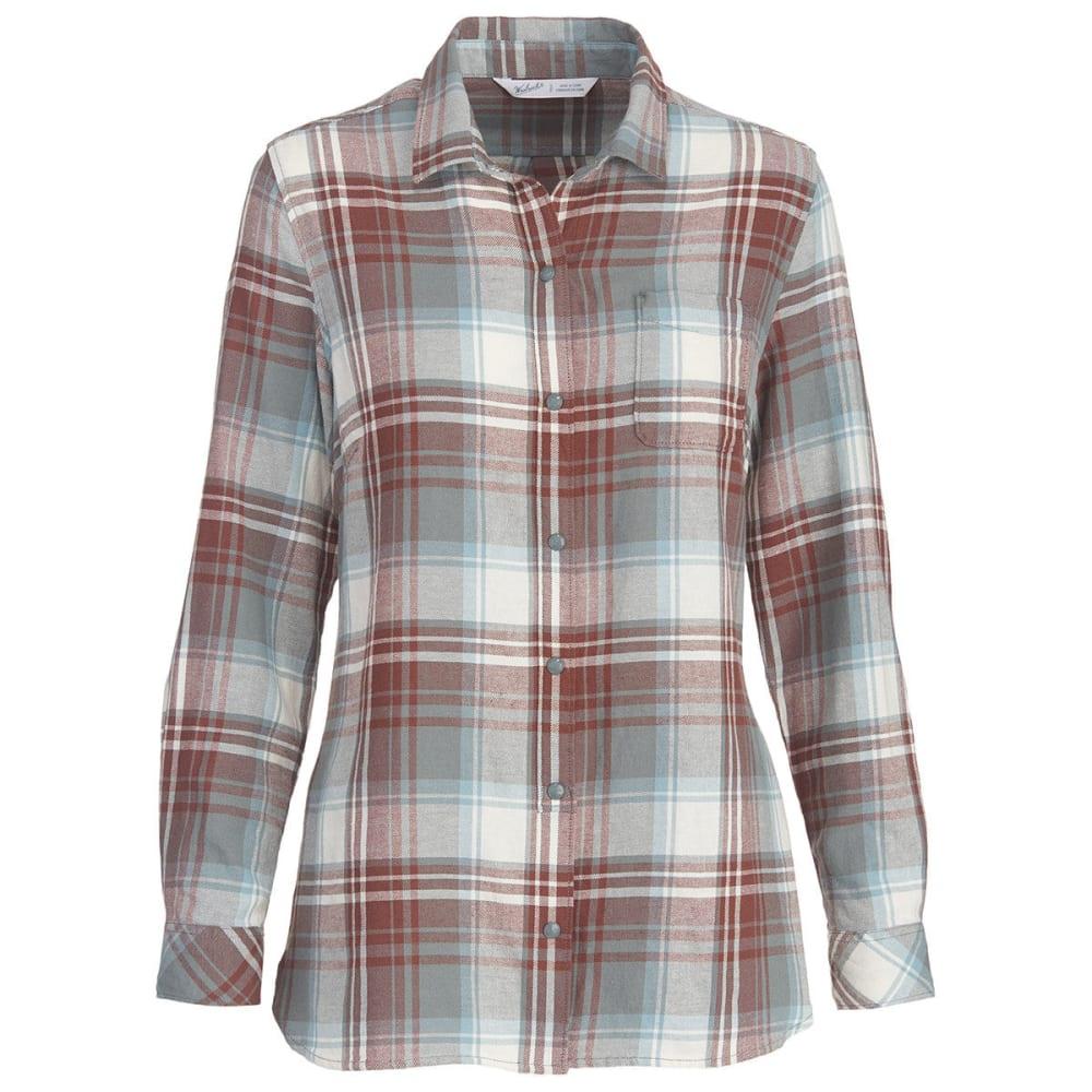 WOOLRICH Women's Oak Park Eco Rich Twill Shirt - PEWTER