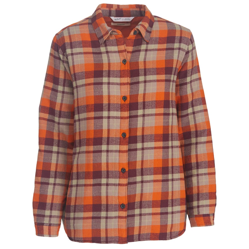 WOOLRICH Women's Pemberton Insulated Flannel Shirt Jac - WINE PLAID