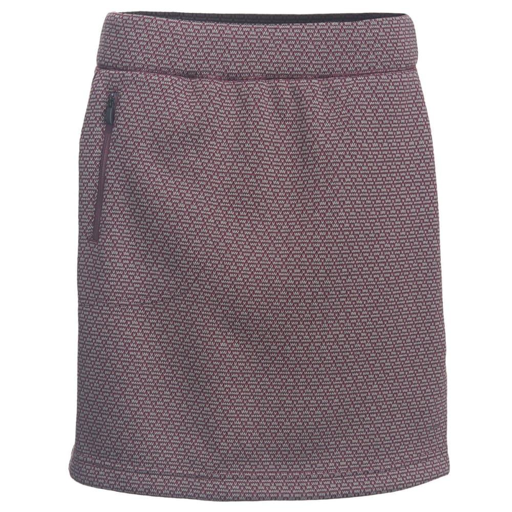WOOLRICH Women's Lochlyn Fleece Skirt - WINE
