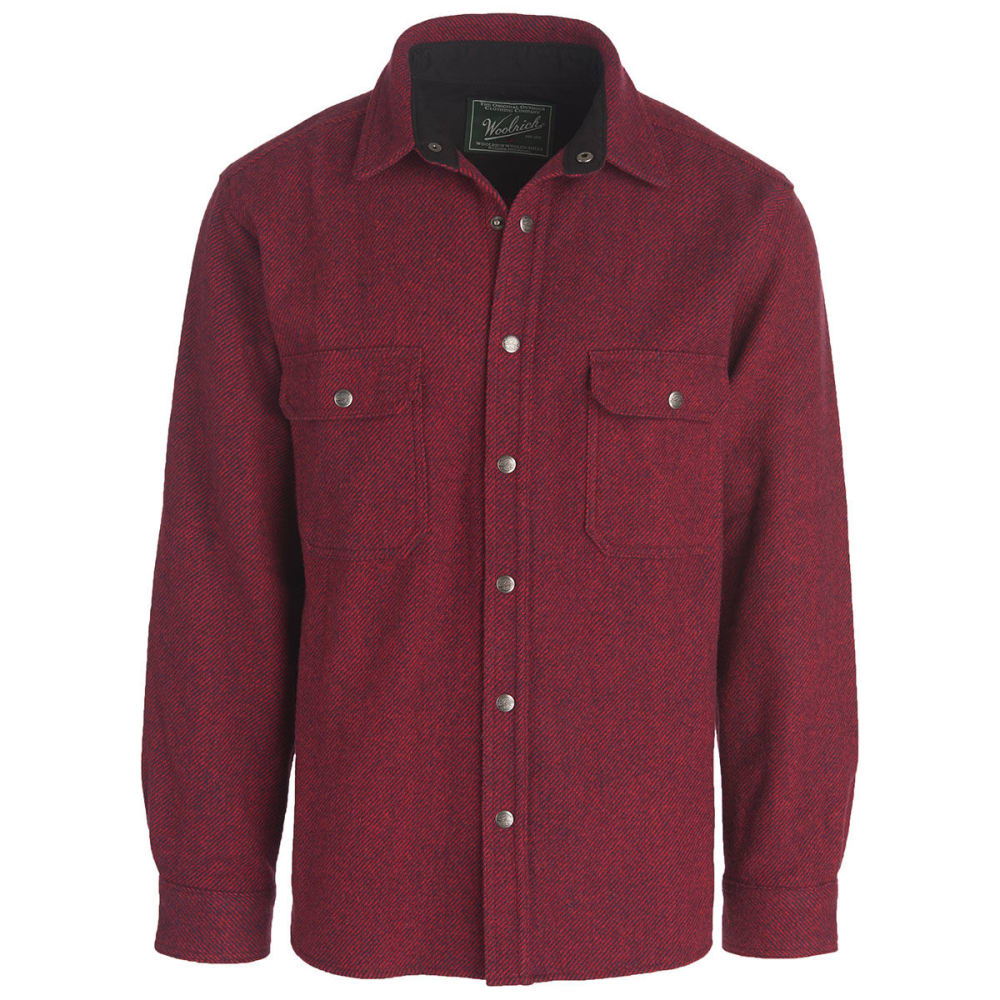WOOLRICH Men's Alaskan Washable Wool Shirt - RED/NAVY