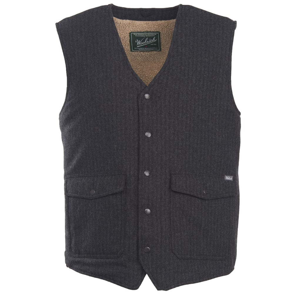 WOOLRICH Men's Teton Wool Vest - BLACK