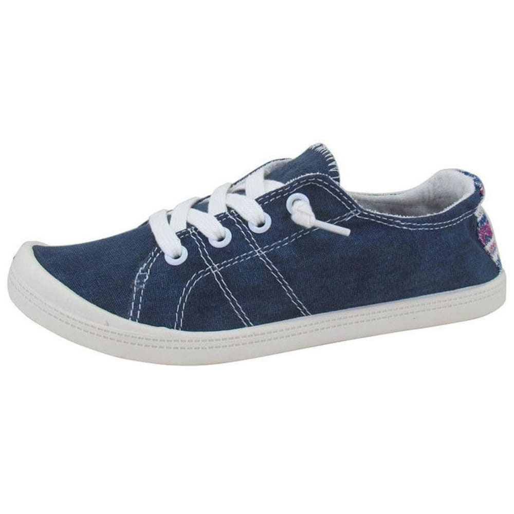 JELLYPOP Women's Dallas Fabric Sneakers, Navy - NAVY