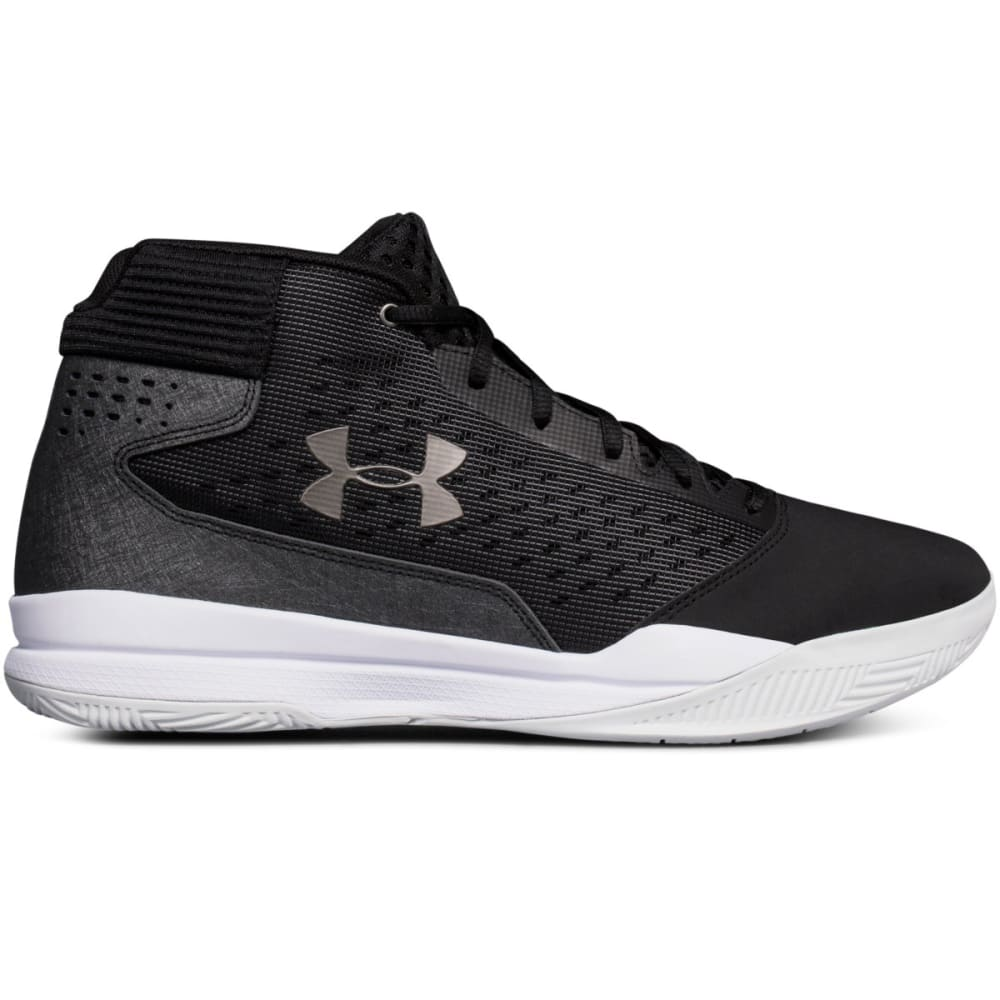 UNDER ARMOUR Men's Jet Mid Basketball Shoes - BLACK - 001