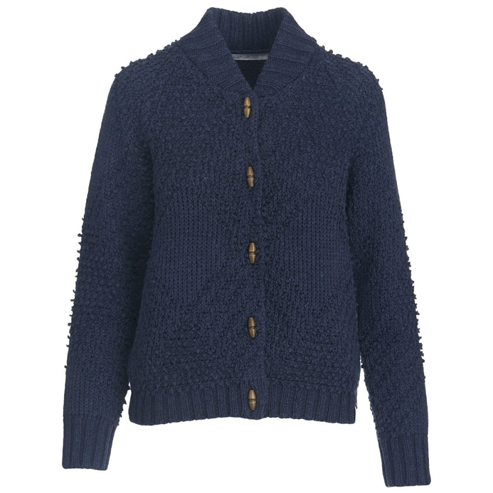 WOOLRICH Women's Cardinal Peak Cardigan - NAVY HEATHER