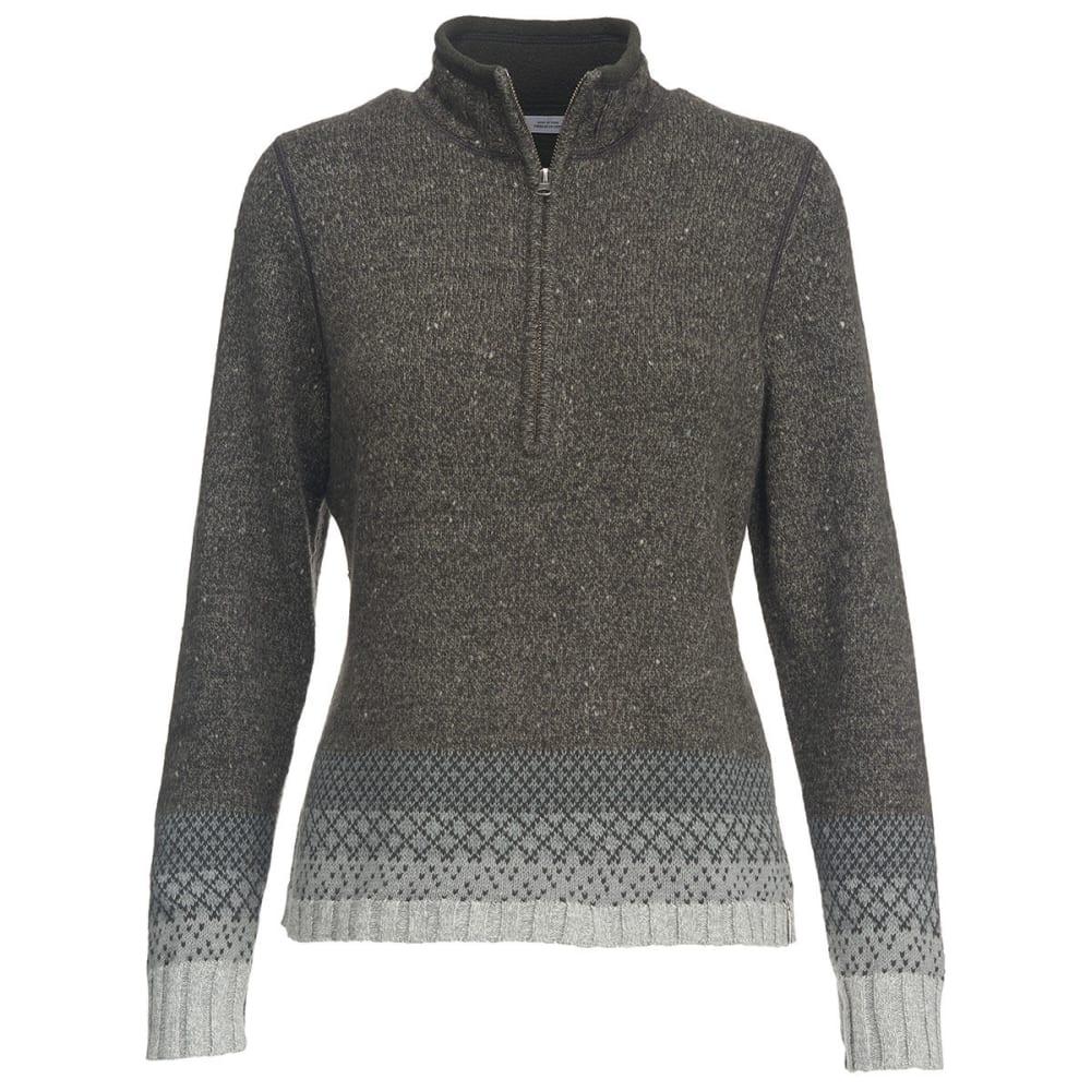 WOOLRICH Women's Tanglewood Half Zip II Sweater - PEWTER